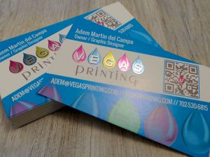 inline foil business cards