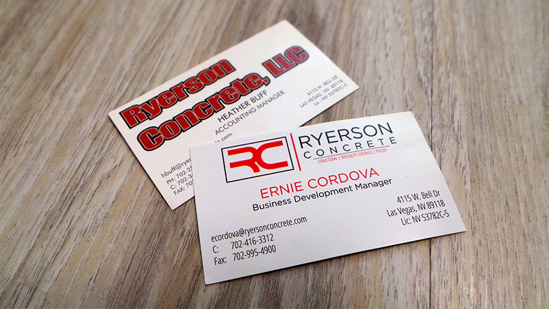 Las Vegas Business Card Redesign