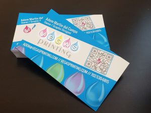 Velvet Spot UV Business Cards